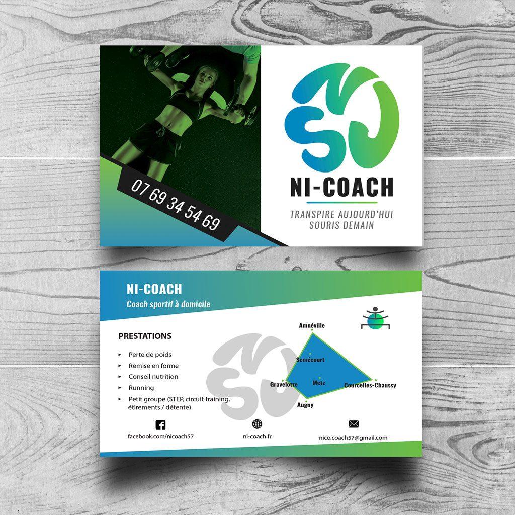Carte De Visite Ni Coach Site Internet Metz